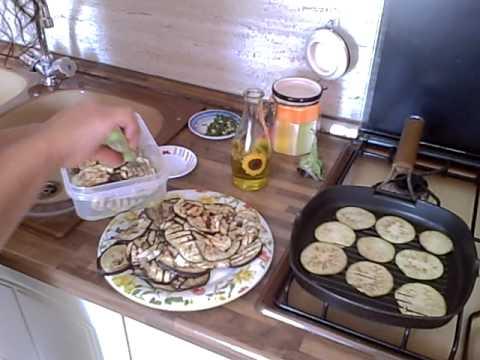 Comida Italiana - Antipasto de Berenjenas- Recetas Italianas