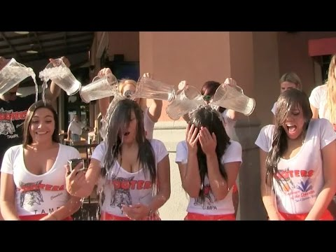 Channelside Hooters ALS Ice Bucket Challenge