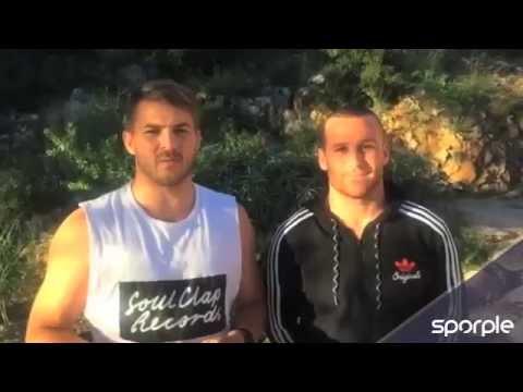 Well done Coopy! - Matt Giteau & Drew Mitchell