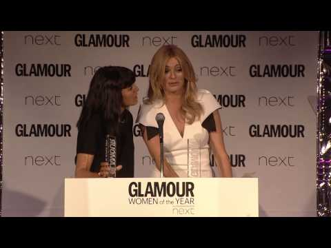 Claudia Winkleman & Tess Daly Acceptance Speech At The GLAMOUR Awards 2015