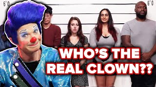 Clown Guesses Who's The Real Clown Out Of A Lineup