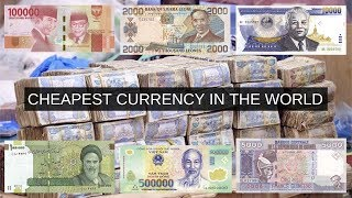 Cheapest Currencies in the World | 2019 | Top 6 Anything