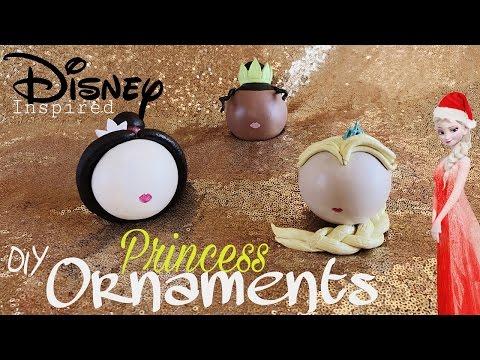 DIY Disney Princess Ornaments   Elsa. Princess Tiana. Mulan