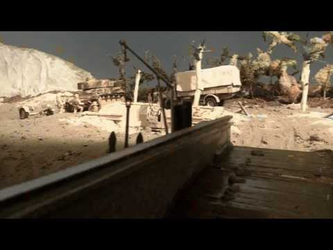 RC Marinefährprahm unter Beschuß / Landing craft under fire