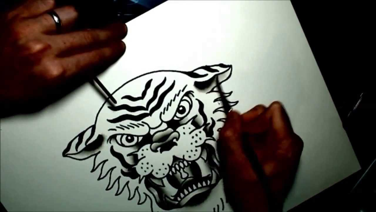 Tiger Watercolor Tattoo Watercolor Tattoo Flash Tiger