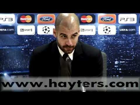 Pep Guardiola Arsenal v Barcelona Post Match Press Conference - 16-FEB-11
