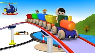 Cartoon Train for kids - Train videos - chu chu train - Toy Factory - Toy Train for children