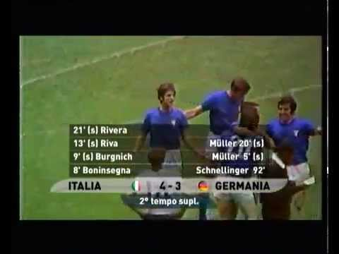 """Game of the Century"" Italy 4-3 West Germany (1970 FIFA World Cup) Goals"