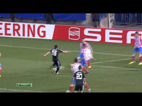 Atletico madrid 3 1 besiktas goal simao 08 03 12