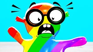 Colors nursery rhyme - Learning colors with Singing Slime Sam