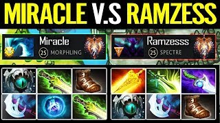 Special MMR Game - MIRACLE Morphling vs RAMZES666 Spectre - So Close Dota 2
