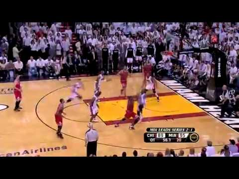 CLUTCH: Dwyane Wade (6ft.4) Block on Luol Deng (6ft.9), Game 4, May 24, 2011