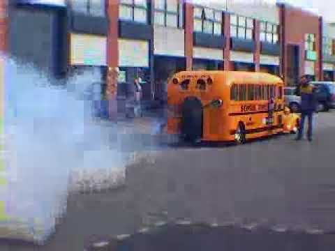 American Schoolbus with Jet Engine
