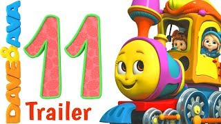 🚂 Number Train Part 2 – Trailer | Learn Numbers 11 – 20 | Nursery Rhymes from Dave and Ava 🚂