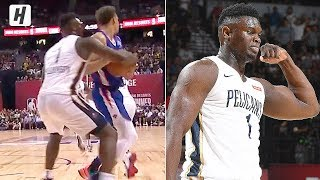 Zion Williamson Absolutely HUMILIATES Kevin Knox & Dunks It! | July 5, 2019 NBA Summer League