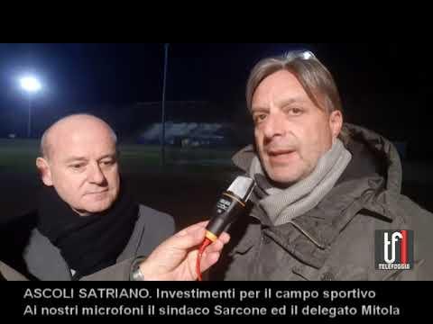 ASCOLI SATRIANO: L'amministrazione vicino alla squadra di calcio