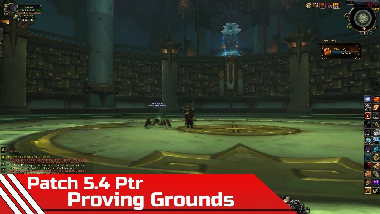 wow proving grounds how to leave