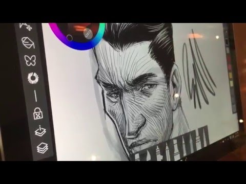 Freehand Drawing On A Surface Pro 4 In The Wild
