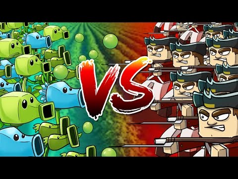 Minecraft | 500 British Soldiers vs 500 PVZ Plants! (Plants vs Zombies Massive Mob Battle)