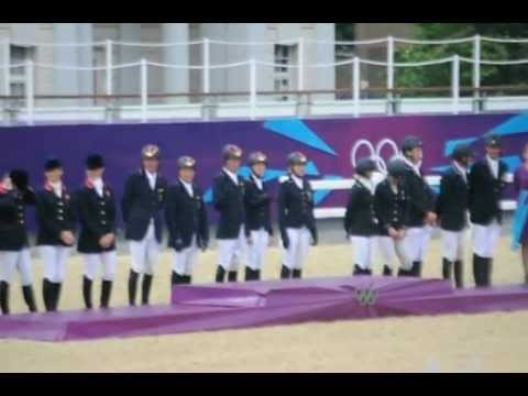 London 2012 Olympics 3 Day Eventing Team Medal Ceremony