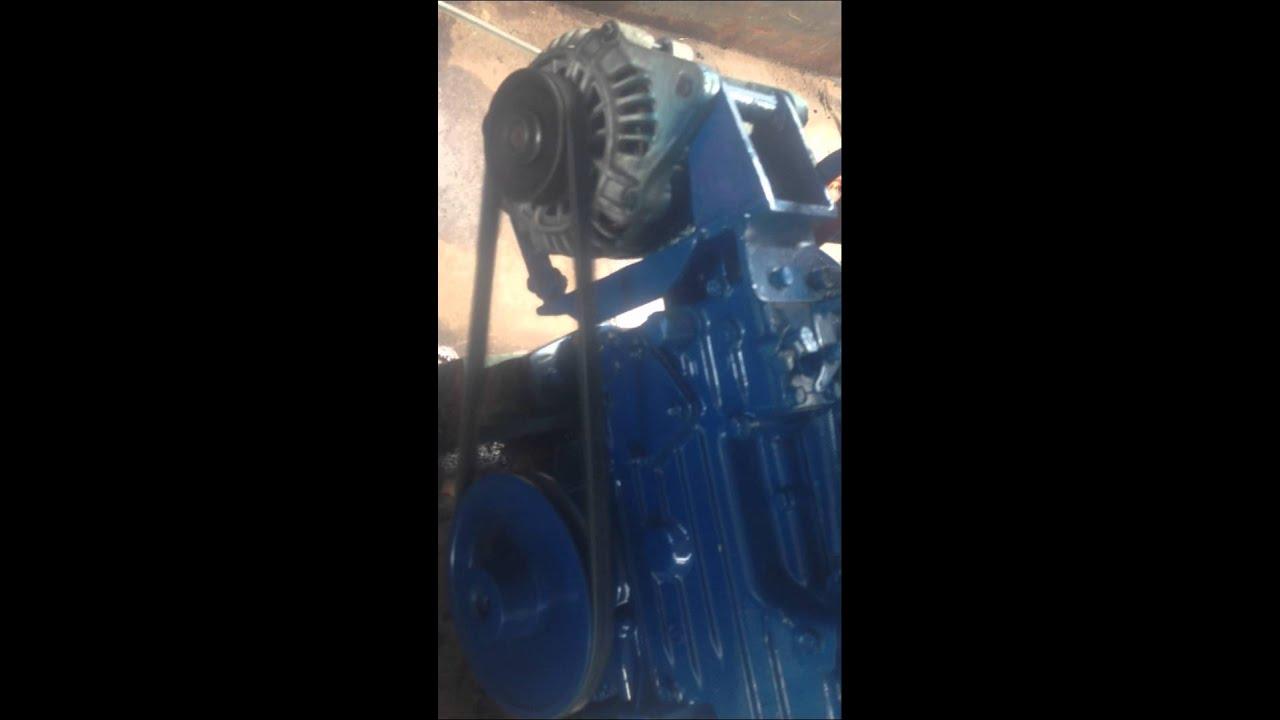 Kubota marine engine D850 Brisbane first start - YouTube