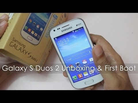 Samsung Galaxy S Duos 2 Unboxing First Boot & Overview