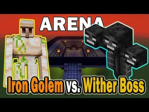 Minecraft Arena Battle Iron Golem vs. Wither Boss