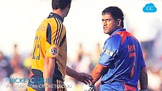 DHONI FIRED UP on Australia after THEY HIT HIM TWICE - ORIGINAL VIDEO