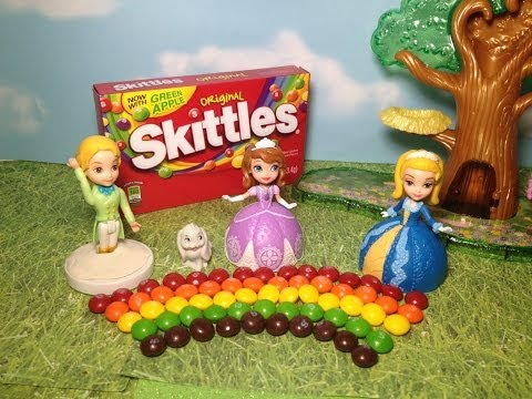 Disney Junior Sofia the First Skittles Candy Rainbow Adventure with Sofia + Amber + James Playset To