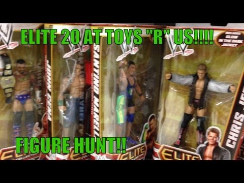 WWE ACTION INSIDER: ToysRus Elite 20 in wrestling figures aisle store Mattel figure toy hunt