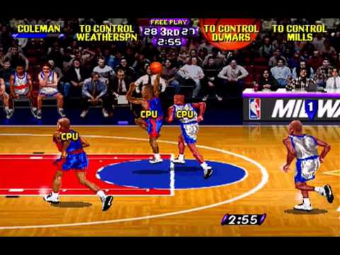 NBA Hang Time (Philadelphia 76ers - Detroit Pistons) (High Voltage Software) (Windows) [1996]