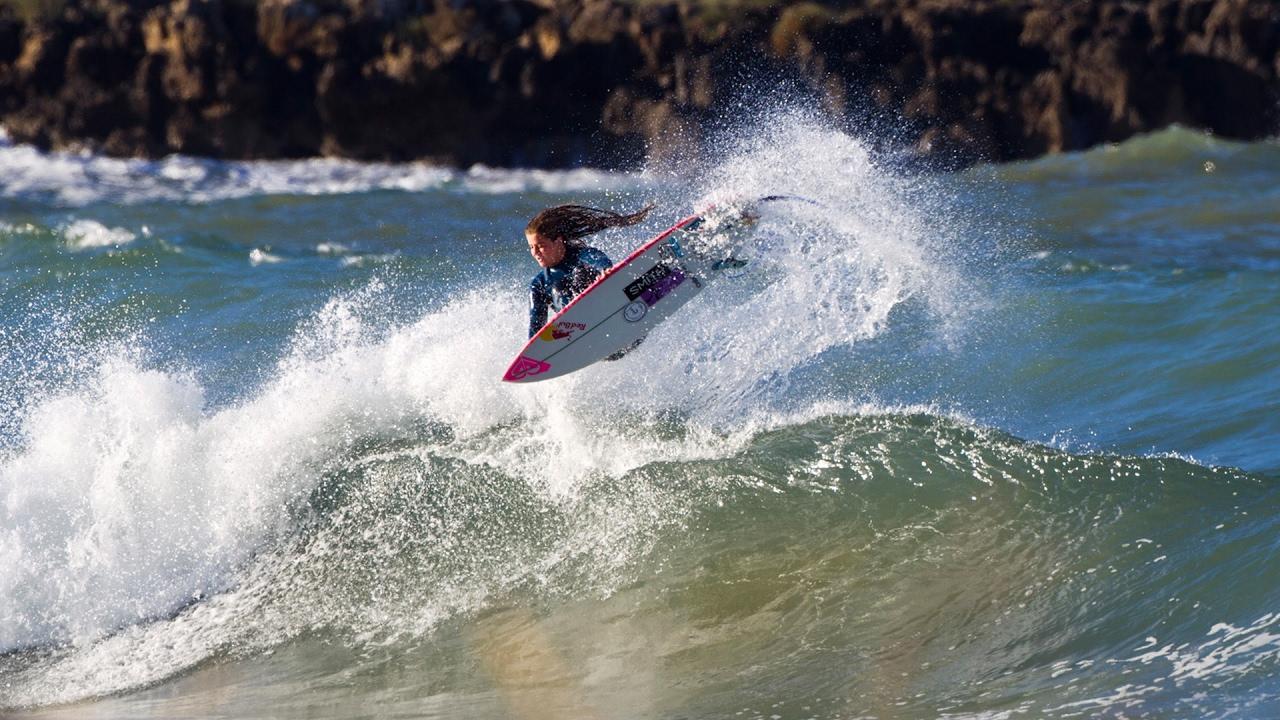 Surfing Phenom Caroline Marks Searches Waves