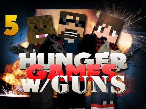 Minecraft Hunger Games with GUNS 5!! IM SORRY BOGDEN!!