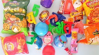 Surprise toys chocolate candy kinder joy gems ball dairy milk lickables unboxing  for kids children