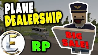 PLANE DEALERSHIP RP | BIG SALE ON ALL AIRCRAFT - Unturned RP ( Plane sales man )