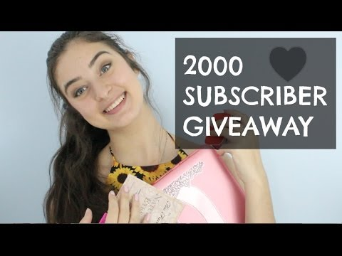 2000 subscriber giveaway benefit too faced and macbook closed