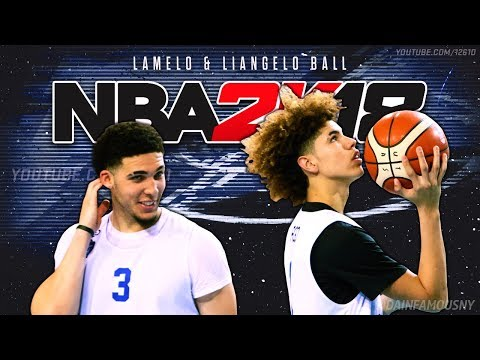NBA 2K18 - How To Play With LaMelo Ball & LiAngelo Ball Lithuania Team (Euro Roster) (PS4)