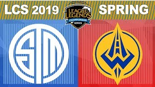 TSM vs GGS - LCS 2019 Spring Split W3D2 - Team SoloMid vs Golden Guardians