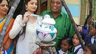 Actress Shivani Celebrated Pongal with School Students
