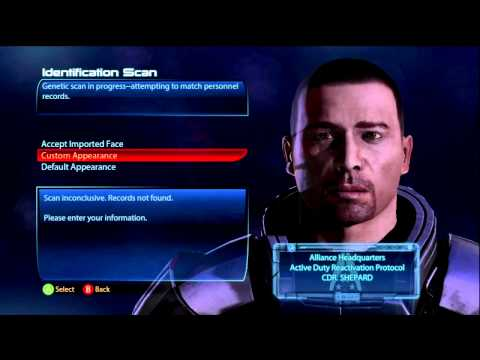 Mass Effect 3 Face Import Problem Xbox 360/PS3