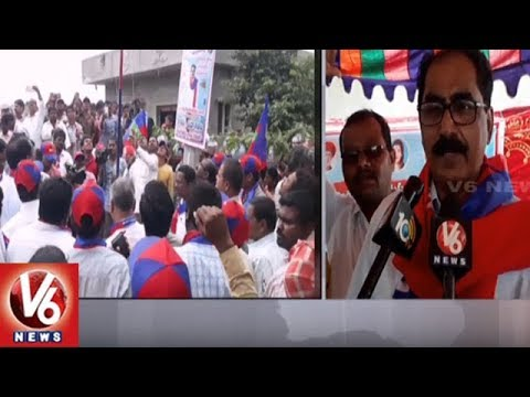 BLF Leader Tammineni Veerabhadram Visits Yadadri Bhuvanagiri District | V6 News