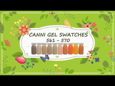 Canni Gel Paint Swatches 561 - 570