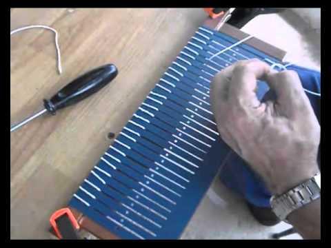 Cómo hacer un peine para un telar, (1)