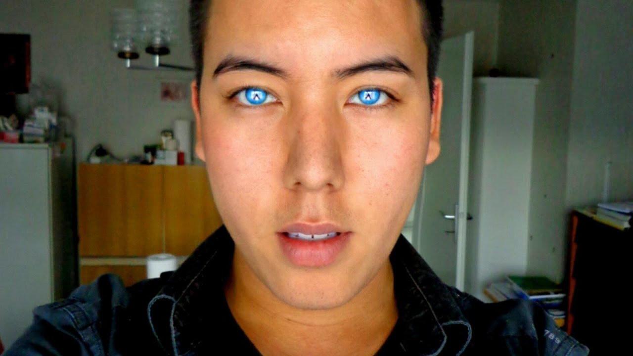 Real green eyes