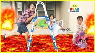 The Floor is Lava Challenge Pretend Play