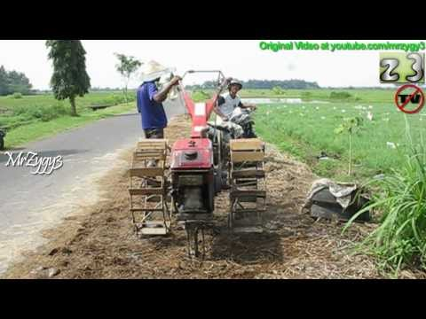 Yanmar Hand Tiller Two Wheel Tractor Walking Down