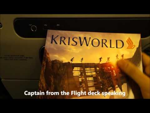 Singapore Airlines SQ 306 Singapore to London Economy Dec 2015 Part 1