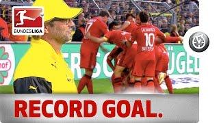 Karim Bellarabi's 9-Second Record Goal Against Dortmund