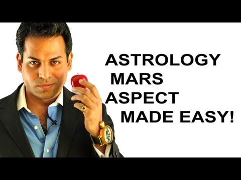 Astrology lesson 5: Astrology aspects made easy (What are astrology aspects) MARS