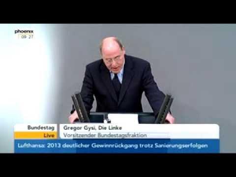Bundestag: Gysi redet Klartext über die Ukraine & Swoboda & Putin (deutsch / english)